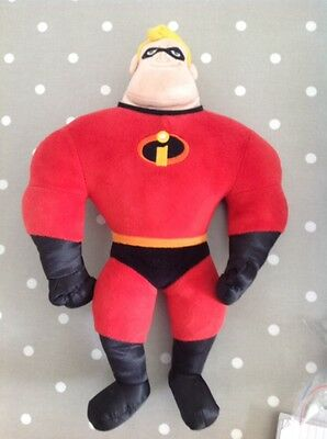 """DISNEY PIXAR MR INCREDIBLE 16"""" TALKING PLUSH TOY from the incredibles."""