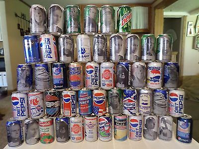 Soda Can Lot of 48 Mountain Dew, Pepsi, etc.  Star Wars Rare Old