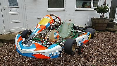 2012 Otk Tonykart Rolling Chassis With Extra Pod & Bumper, Senior Rotax X30