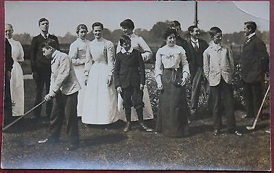Golfers with group of people, RP card, unwritten, crease top right corner