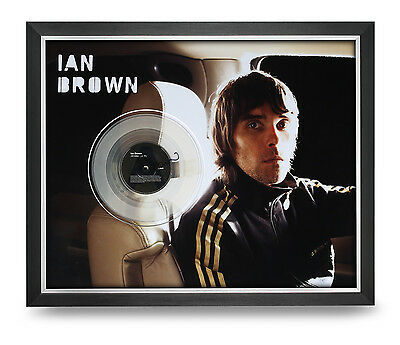 Ian Brown Signed Photo Large Framed 20x16 The Stone Roses Autograph Display COA