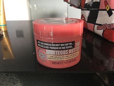 Soap and Glory THE RIGHTEOUS BUTTER Body Cream 300ml Shea Butter & Aloe Vera new