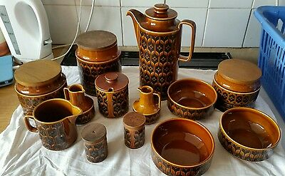 Hornsea heirloom pottery brown kitchen items vintage and old