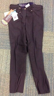 "Equestrian Ladies Berrington Performance Breeches Black 30"" Bnwt"
