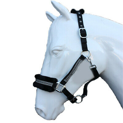 DIAMONTE HEAD COLLAR FLUFFY - ALL SIZES & COLOURS - Headcollar