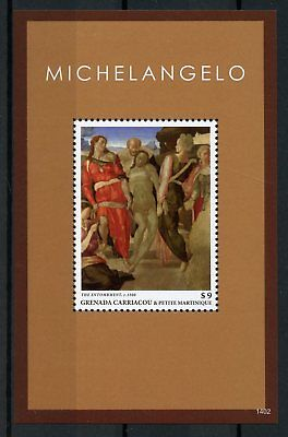 Grenadines of Grenada 2014 MNH Michelangelo 1v S/S Art Paintings Stamps