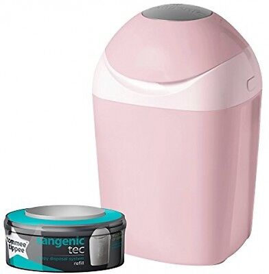 Tommee Tippee Sangenic Baby Nappy Disposal Tub Bin System Pink + Cassette