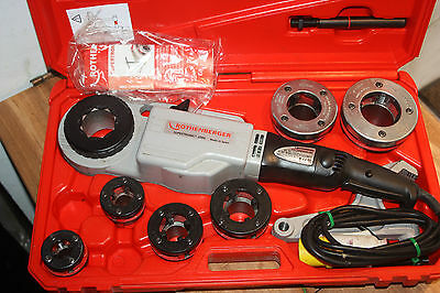 """Rothenberger Supertronic 2000 110v Pipe Threader Kit 1/2""""-2"""" Immaculate"""