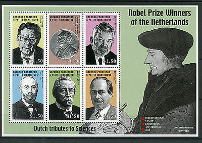 Grenadines Grenada 2002 MNH Nobel Prize Winners Netherlands 6v MS Erasmus Stamps