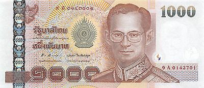 Thailand  1000  Baht  ND 2005  P 115  Series  9 A Uncirculated Banknote