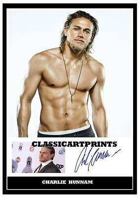 206.  Charlie Hunnam   Signed   A4  Photograph  ....