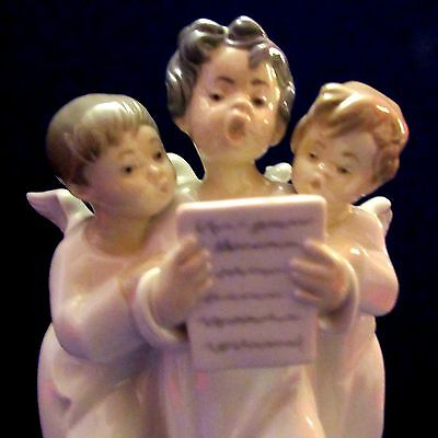 """Lladro Figurine """"Group of Angels"""" 4542 Retired"""