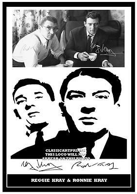 233. The Kray Twins Ronnie & Reggie Kray   Signed  Photograph ****