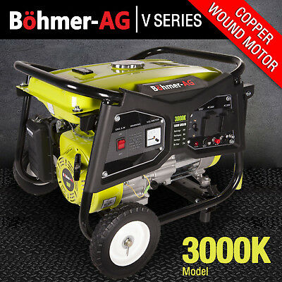 Generator 2700w, 3.5KVA 4 Stroke Petrol, UK Plug sockets, 7HP Great Spec WX3000K