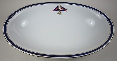 Antique New York Yacht Club & Fred Thurber Sachem China Porcelain Oval Bowl