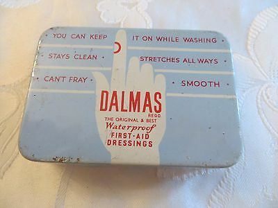Antique Metal Tin Dalmas Limited First Aid Dressing Vintage Collectors