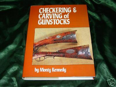 Checkering and Carving of Gunstocks Book-walnut blank inlaying-Monte Kennedy-NEW