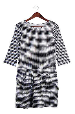 Autum Women Winter Long Sleeve Evening Party Cocktail Short Mini Dress Grid L