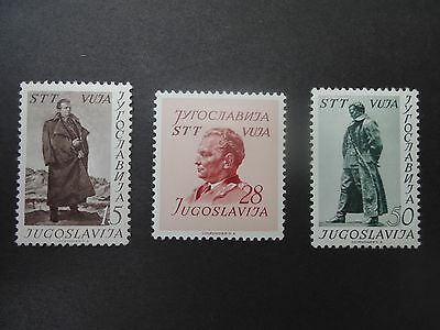 Yugoslavia Trieste Zone B Vuja 1952 Tito Set Of 3 M/mint