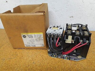 Allen Bradley 509-TOB Ser B Full Voltage Starter 460-480V 60Hz 440V 50Hz New Box
