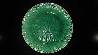 Lovely Antique Wedgwood Green Majolica Cabbage Leaf Plate