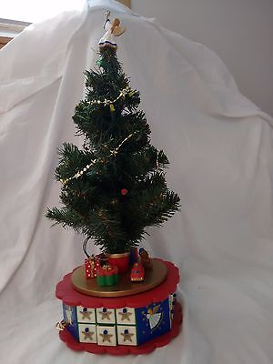 """Avon Advent Tree 1996 Complete Working Musical Lights 18"""" F203831"""