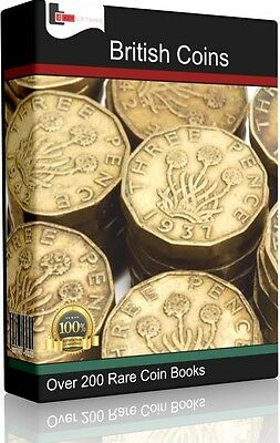 British Coins, Medals & Tokens + Metal Detecting Guides - 200+ Books on 2 X DVDs