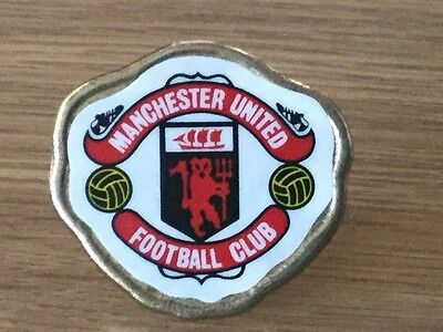 manchester united football badge, vintage, coffer sports