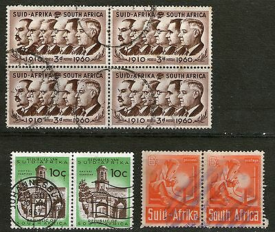 South Africa : Block of 4 + 2 Pairs - Used