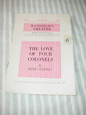 The Love of Four Colonels programme on 23rd May 1951