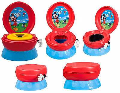 TOMY Disney Mickey Mouse 3-in-1 Red Blue Yellow Boys Potty Chair Training Seat