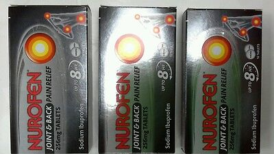 Nurofen Joint And Back Pain tablets x 3 (Exp2018)