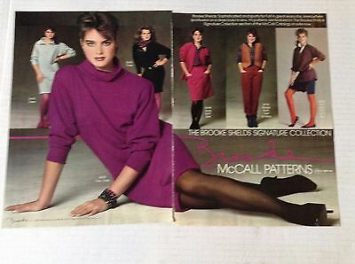 young Brooke Shields Modeling Spread Layout Clippings Lot #14
