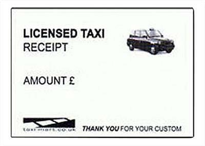 1 x Licensed Taxi Receipt Pads Black Cab London Taxi Driver- 50 Receipts Per Pad