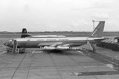 South African Airways Boeing 707 ZS-CKE at Heathrow (1963) Photo