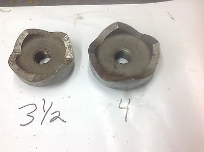 """Greenlee 3-1/2"""" (sharpened) & 4"""" Knockout Punch WITHOUT DIES. USED LOOK PHOTOS"""
