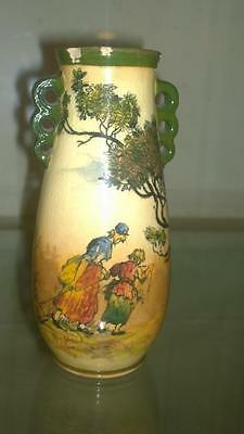 Collectable Royal Doulton 'The Gleaners' Seriesware Two Handled Vase C 1881+