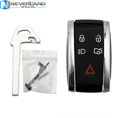 For Jaguar X XF XK XKR New Remote Smart Prox Key Fob Shell Case Housing + Blade