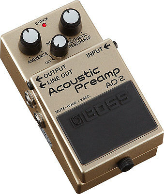 Boss AD-2 Acoustic Preamp Effects Pedal AD2