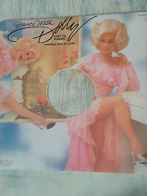 """Dolly Parton. Dance with Dolly. Baby i'm burnin 12"""" pink vinyl"""