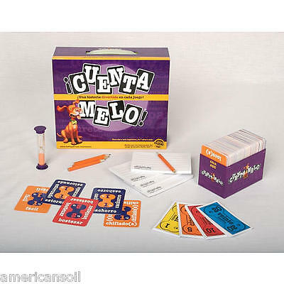 Cuentamelo Learn Spanish Language Learning Board Game Dictionary Cards Sealed