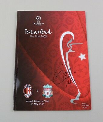 Rafa Benitez Signed Original 2005 Istanbul Champions League Final Programme COA