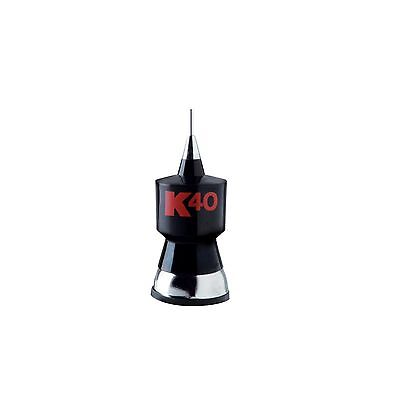 """K40 K40A 57.25"""" Base Load CB Antenna Kit with Stainless Steel Whip and Black/Red"""