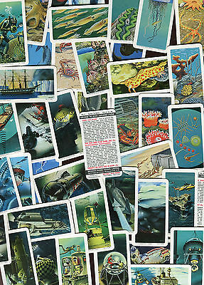 "Brooke Bond Canada Tea 1974 Set Of 48 ""exploring The Ocean"" Trade Cards"