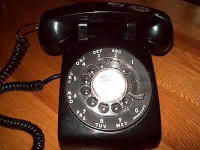 AT&T Black Rotary Dial Desk Phone