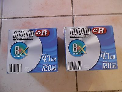 2 x 10 DVD+R  Enregistrables DVD, 4.7gb, 120 minutes, Vitesse 8x NEUF