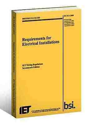 The IET 17th Edition Wiring Regulation Book - 3rd BS7671/2015 Electrical Regs