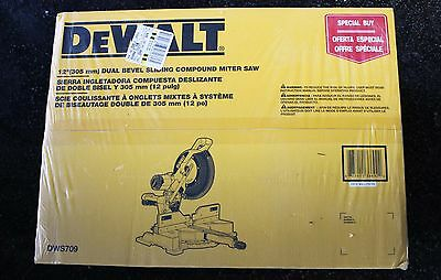 "New, Dewalt DWS709 12"" Sliding Compound Miter Saw."