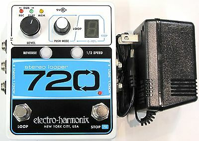 Used Electro-Harmonix EHX 720 Stereo Recording  Looper Guitar Effects Pedal!