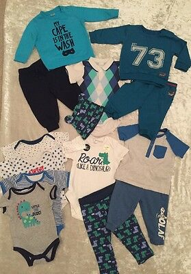 NEW Cute Baby Boys Bundle Green&White Frozen Olaf Joggers Tracksuit Outfits 6-9m
